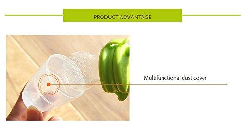 2 pcs Silicona Mordedor Fruta Bebe,Hoyoo,Alimentador de ...