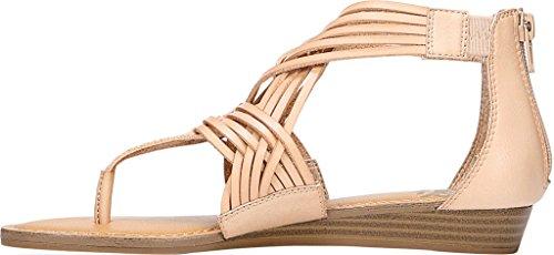Sandali T-strap Casual Con Tizzy In Pelle Scamosciata Da Donna Fergalicious Nude