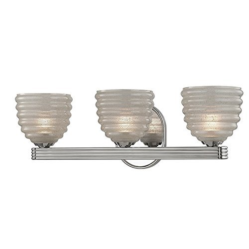 Hudson Valley照明Thorton 3ライト化粧台ライト – ポリッシュニッケル仕上げクリアガラスシェードby Hudson Valley照明 B01IU78HCW