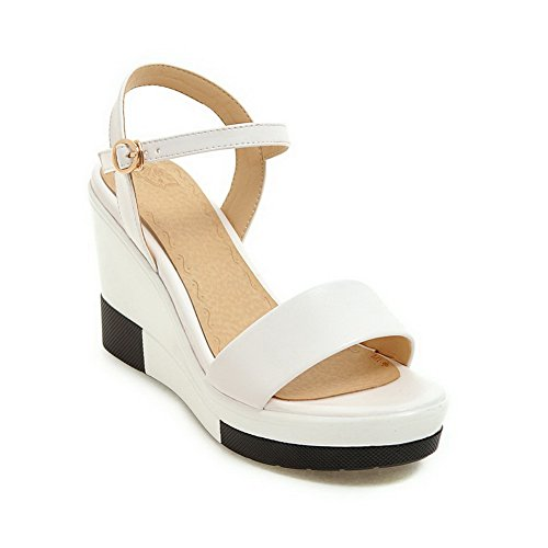 BalaMasa Womens Oversized Assorted?Color Cold Lining Urethane Sandals ASL04965 White NIX9oNcpX