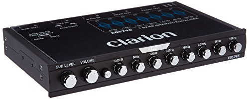 Clarion EQS746 1/2 DIN Graphic Equalizer with Built-in Crossover - Eq Crossover