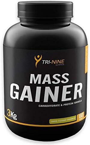 MASS GAINER, Sabor Plátano-Caramelo, 3000 g