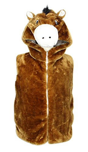 Bioterti Kids' Animal Hooded Vest for Dress Up/Manufacture/16 Amazing Styles (Small, -