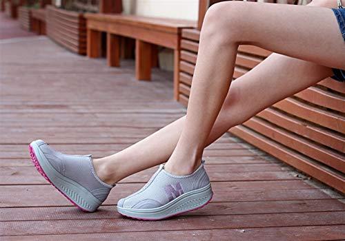 Cómodos Sk Deportivas Sandalias Woven Respirables Gris Flats Zapatillas Studio Mujer Verano rTxOqw8A6T