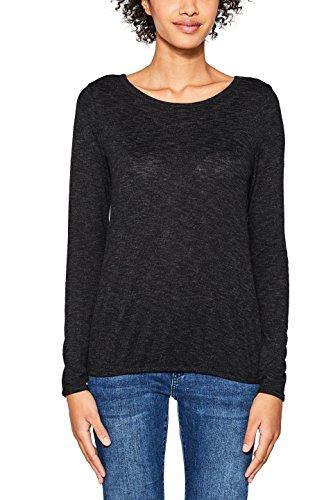 ESPRIT, Camisa Manga Larga para Mujer Negro (Black 001)