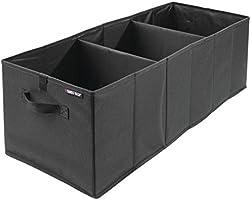 Swiss + Tech st80160para asiento trasero de coche organizador de almacenamiento con ganchos, (Expandable Trunk Bin), Negro