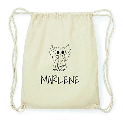 JOllipets MARLENE Hipster Turnbeutel Tasche Rucksack aus Baumwolle Design: Elefant pXSr5RA6