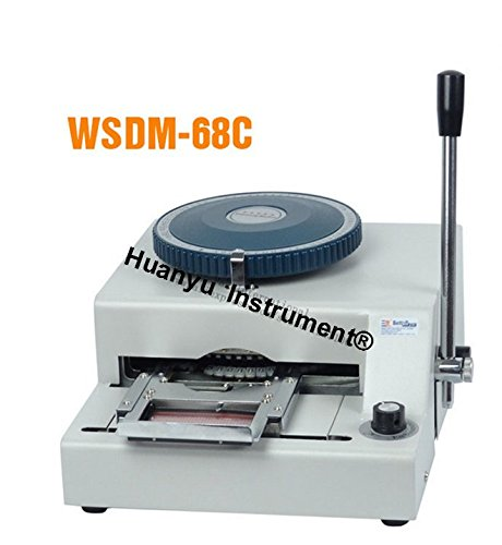 WSDM-68C PVC Card Embosser Manual Name Card Code Printer Embossing Letterpress Rotogravure Printing Machine by Huanyu Instrument