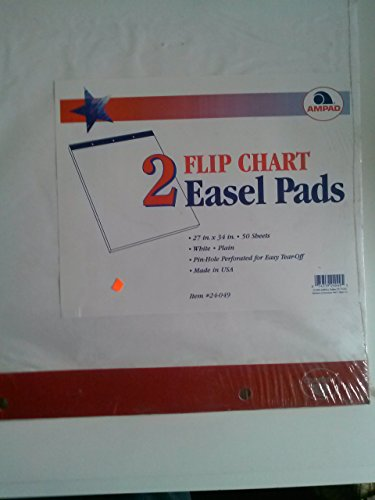 Ampad 24-049 Flip Chart 27'' x 34'' 2 Easel Pads Made in USA by Ampad
