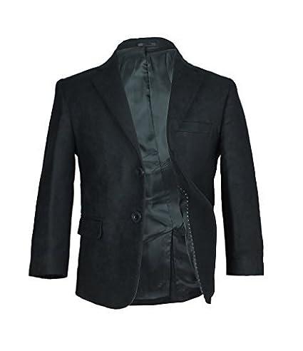 Giacca in pelle scamosciata sintetica nero/blazer