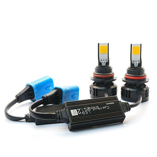 JLM NPLED-C2-97-6K C2 LED Headlight Bulbs Conversion Kit All-in-one 66W 6000LM (3Kx2) 9007 (HB5) 6000K Daylight with Rainproof Driver