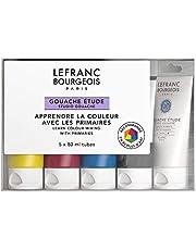 Lefranc Bourgeois 301242 Studio Gowaache, mocna, odporna na światło, kryjąca farba w tubce 80 ml – biała