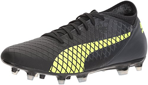 (PUMA Men's Future 18.4 FG/AG Soccer-Shoes, Puma Black-Fizzy Yellow-Asphalt, 12.5 M)