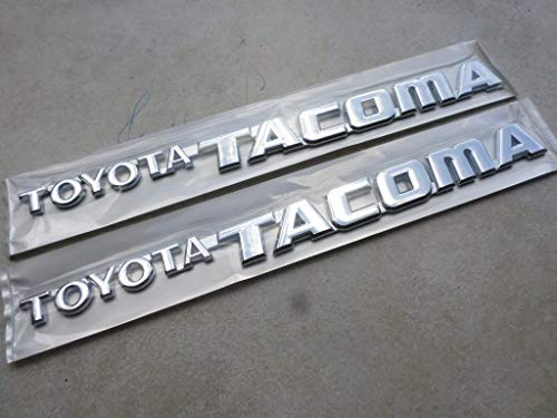 (95-04 Set of 2 New Toyota Tacoma Side Door Fender Emblem 75473-04010 Logo Nameplate Badge Ornament Set of 2 Decals)