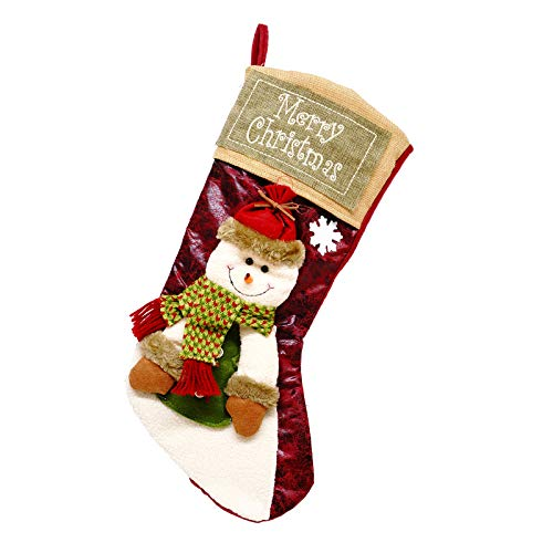 MoBeauty Christmas Stockings Personalized, 18Inch Fireplace Hanging Stocking for Xmas Decoration Tree Ornament Holiday…