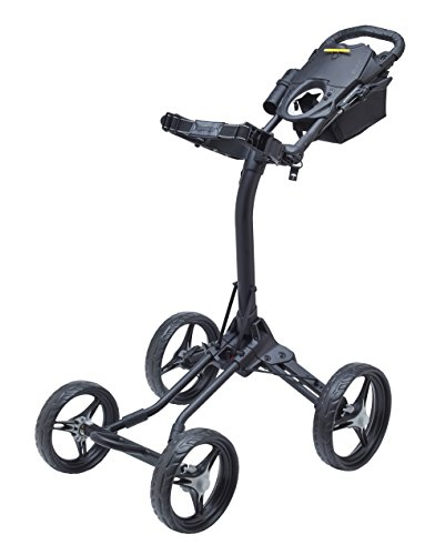 (Bag Boy Quad XL Golf Cart, Matte Black/Silver)