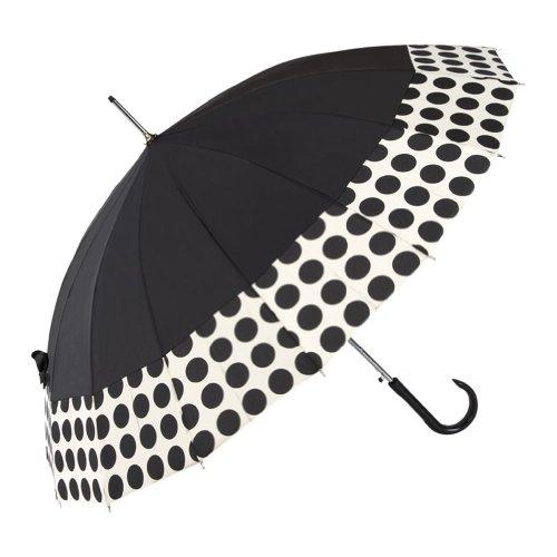 shedrain-umbrellas-rain-essentials-16-panel-auto-open-stick-umbrella-black-spot-on-one-size