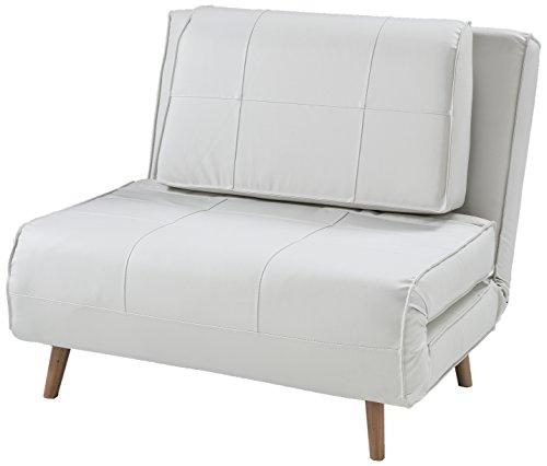 Wink Design, Westminster, Poltrona Letto, pelle sintetica, Bianco ...