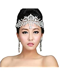 73e5b112189 Lady Rhinestone Wedding Bridal Head Wear Hair Band Headdress Chain Jewelry  Decoration-NO.421
