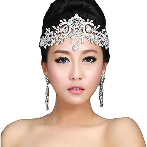 Lady Rhinestone Wedding Bridal Head Wear Hair Band