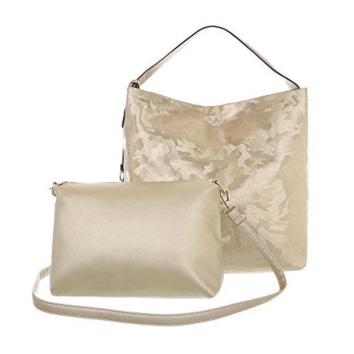 para Ital al Dorado Design Sintético de mujer hombro Bolso nErwYBWqE