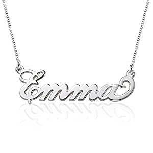 Amazon small name necklace 925 sterling silver xs name small name necklace 925 sterling silver xs name pendant tiny custom made jewelry with aloadofball Images