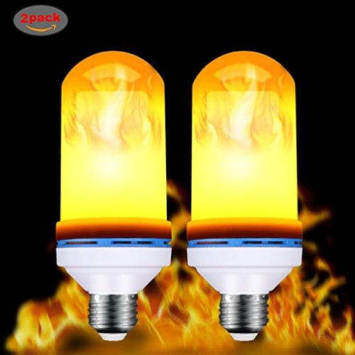 LED Flame Effect Light Bulb MASCOTKING E26 Base 105pcs 2835 LED Beads Vintage Christmas Festival Atmosphere Decorative LampNature Fire effect 1 Pack (2pack)