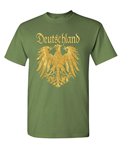 - DEUTSCHLAND METALLIC GOLD - german eagle Tee Shirt T-Shirt, M, Army
