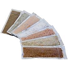 Gourmet Salt Sampler Gift Set - Tasting Edition with 7 Artisanal Salts: Black Truffle Salt, Organic Celery Salt, Chili Lime, Himalayan Pink - Garlic Salt, Lavender Rosemary, Lemon Rosemary, Sriracha