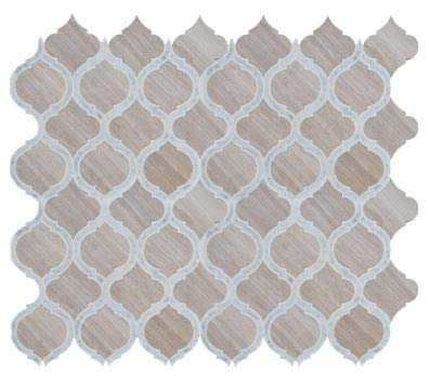 White Quarry Savona 10.89 in. x 12.80 in x 10 mm Honed Marble Mesh-Mounted Mosaic Tile by MS International (Image #2)