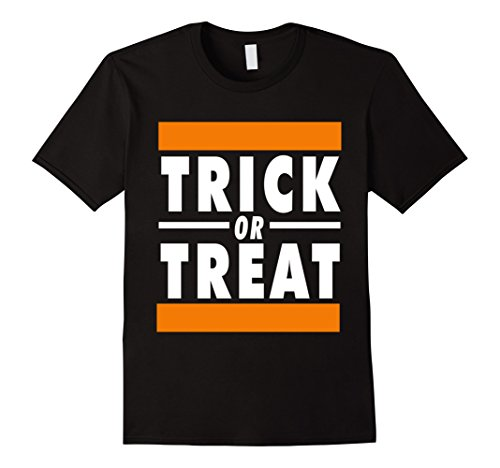 Rap Costume - Mens Trick OR Treat Hip Hop Rap DJ Halloween Costume T Shirt Medium Black