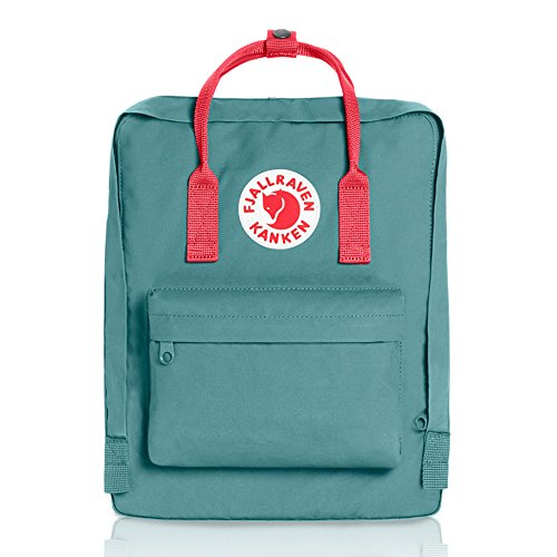Fjallraven - Kanken Classic Pack, Heritage and Responsibility Since 1960, One Size,Frost Green/Peach (Frost Green)