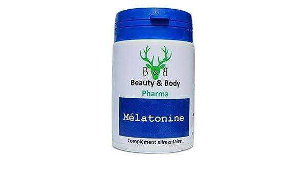 Beauty & Body Melatonina, 60 cápsulas, reducen el tiempo que se tarda en conciliar el sueño y contribuyen a un descanso reparador, 100 % naturales: ...