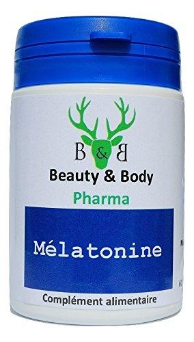 Beauty & Body Melatonina, 60 cápsulas, reducen el tiempo que se tarda en