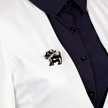 Tonpot No/ël Puppy Breastpin personnalit/é Broche vintage V/êtements Accessoires Animal Broche broches pour enfant Combinaison homme femme /Écharpe Sac D/écoration 3.4 2.5 cm blanc
