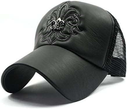 YAzNdom Sombrero, Gorras de Camionero de Cuero de la PU de la ...