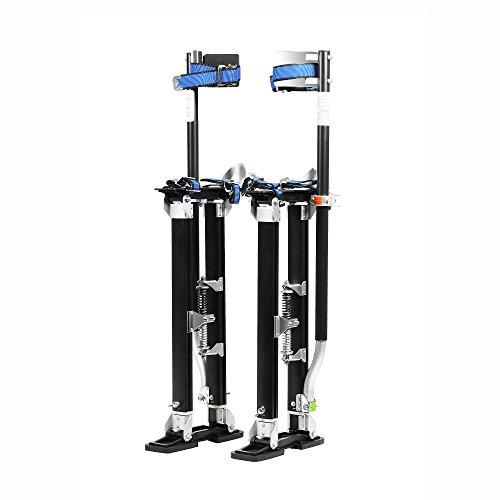 "Pentagon Tools 1153 Black MAG Stilts 24-40 Mag Pros Magnesium Drywall Stilts, 40"" Height, 8"" Width, 6"" Length, 228 lb. Load Capacity, Magnesium, Black"