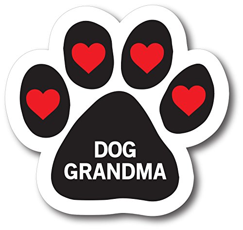 Magnet Me Up Dog Grandma Pawprint Car Magnet Paw Print Auto Truck Decal Magnet