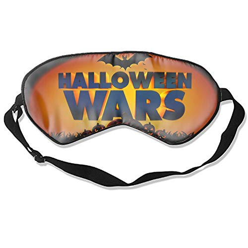Sleep mask &Super Soft Silk Eye Mask for Sleeping, Blindfold for Women and Kids (Halloween Wars)