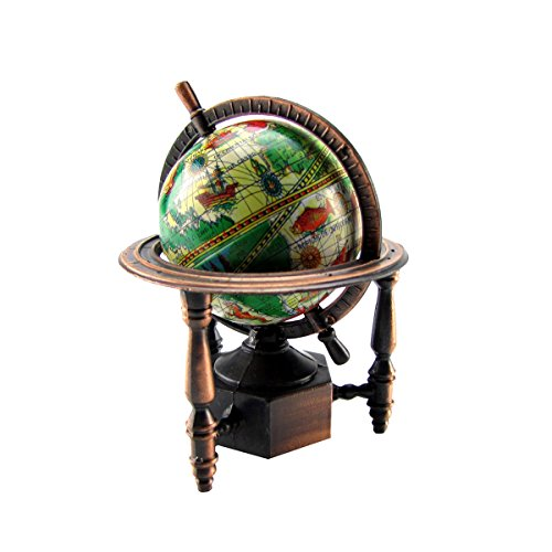 TG,LLC Treasure Gurus 1:12 Miniature World Globe Dollhouse/Diorama Accessory Die Cast Pencil Sharpener