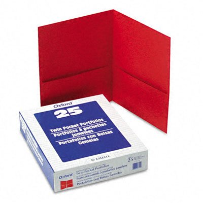 Oxford 2 Pocket Heavy Duty Folders, 11 x 8-1/2 Inches, Red, Pack of (Oxford Two Pocket)