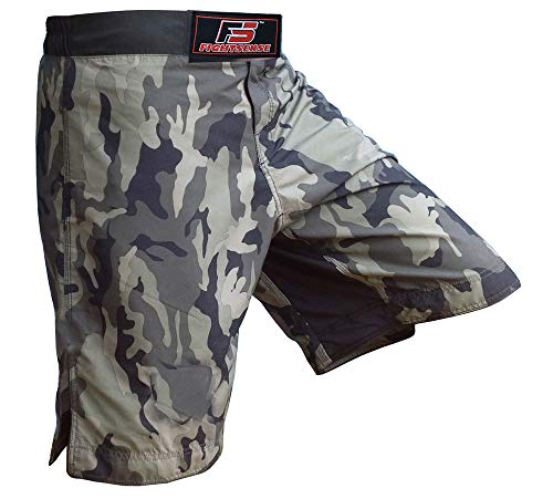 MMA Kick Boxing Fight Shorts Grappling Muay Thai UFC Cage Fighting Short Kick Boxing Martial Art Training Camouflage Green (5XL)