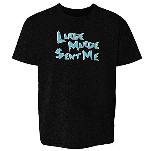 Pop Threads Large Marge Sent Me Funny Black S Youth Kids T-Shirt