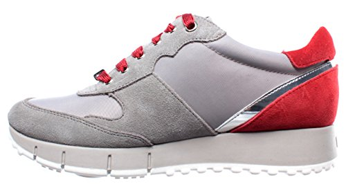 Sneakers Jo Scarpe Suede Running Red Grey 02 New Donna Liu Cow Gigi Nuove Nylon wRr5tRq