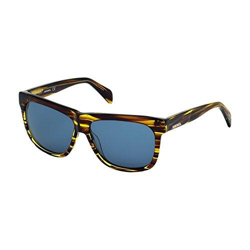 - Diesel DL0100-41V Blue-Brown Stripe DL0100 Sunglasses