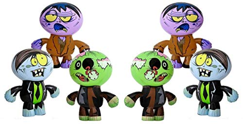 Set of 6 Crazy Inflatable Zombies (24