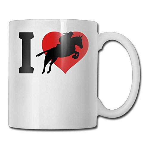 HOJJP Coffee Mugs Coffee Mug Cute Birthday I Love Horse Racing Ceramic Tea Cup -