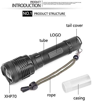 kashyk Torcia LED, 2200 Lumen, Torcia LED Super Luminosa, Impermeabile con 3 modalità, Alta Potenza zoombar per Campeggio Search Rescue torce