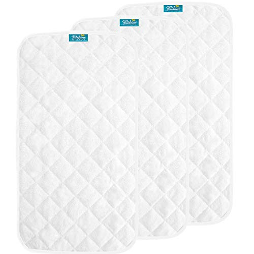 Changing Pad Liners Ultra Soft Bamboo Terry Surface, 3 Pack, Waterproof & Washable Changing Liners