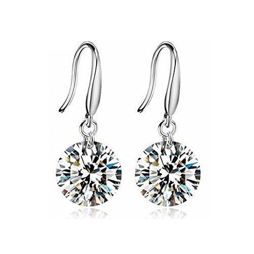 Sterling Crystal Earrings Diamond Pierced product image